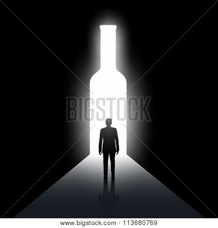 Alcoholism. Stock Illustration.