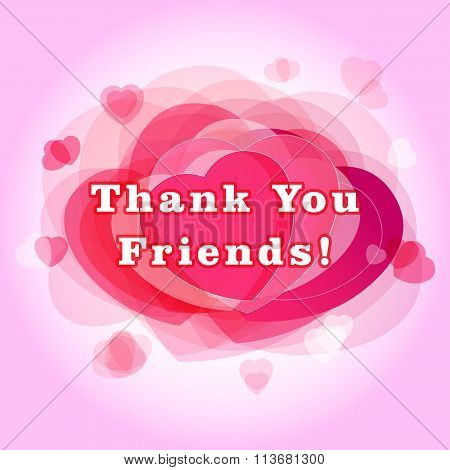 Thank you friends card.