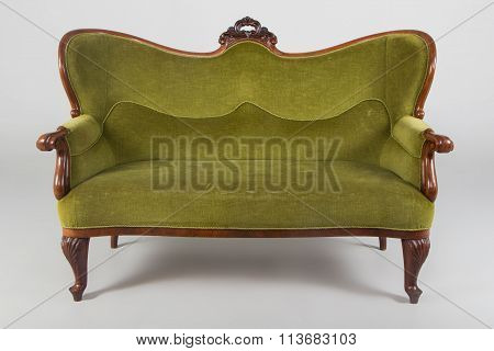 Antique sofa studio shot