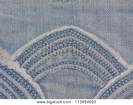 denim texture with pattern