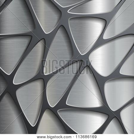 Metallic.  Stock Illustration.
