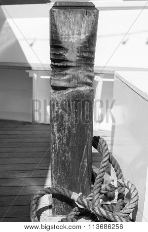 Wooden Mooring Post