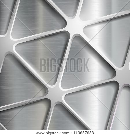 Metallic Pattern. Stock Illustration.