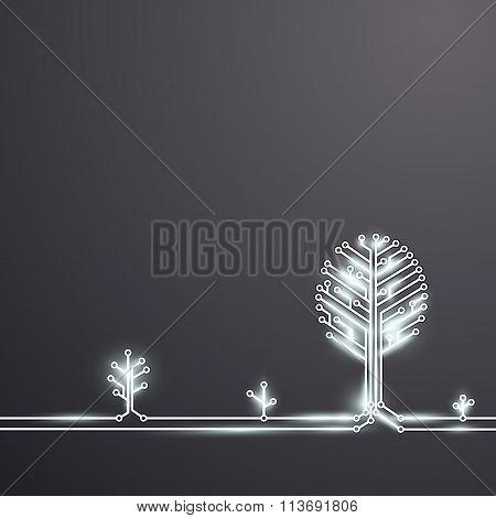 Technology Background. Stock Illustration.