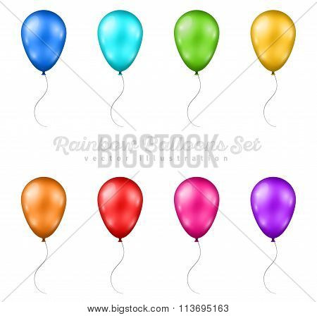 Set of Multicolored Balloons