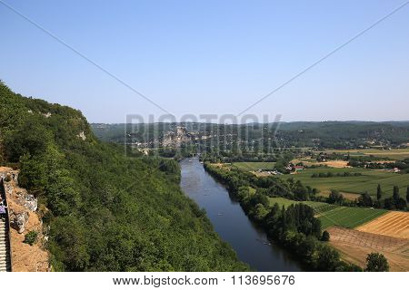 River Dordogne at Chateau De Castelnaud La Chapelle, Dordogne, France