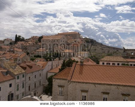 rooftops of dubrovnik old town within the city walls