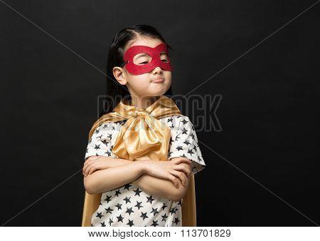 Superhero Kids On A Black Background