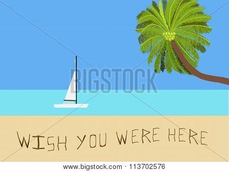 Message On A Tropical Beach 02