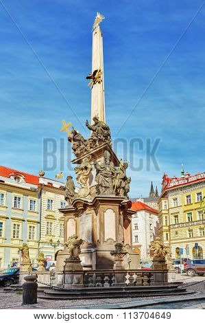 Prague, Czech Republic-september 05, 2015:marian Columns Are Religious Monuments Built In Honour Of