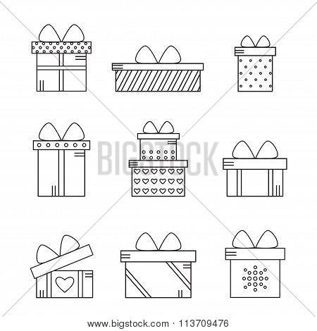 Present boxes set.