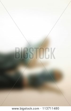 Contemporary dance performance theme blur background