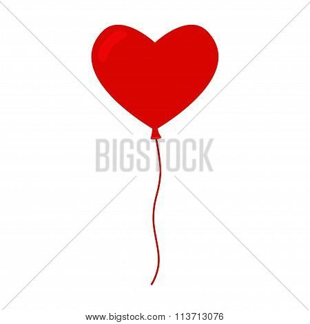 Heart balloon isolated icon.