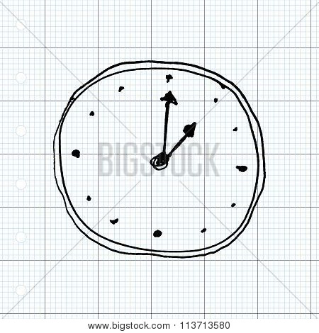 Sketch Drawing Of A Clock