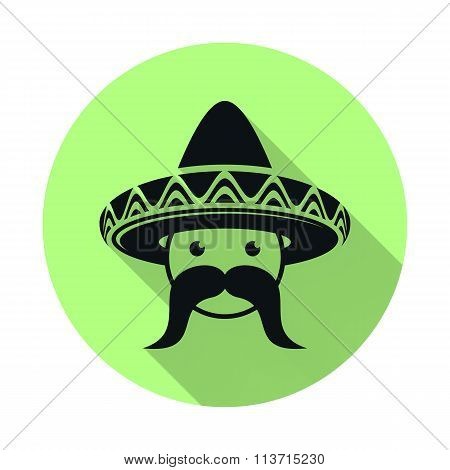 Mexican With Sombrero