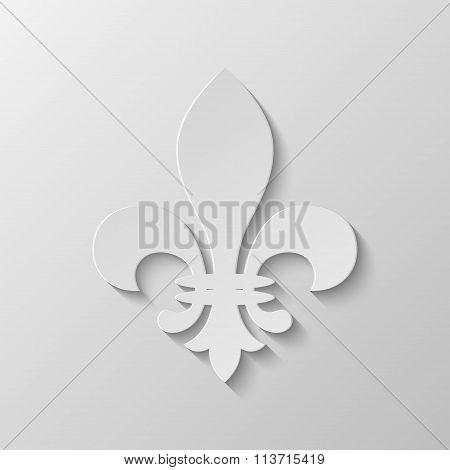 Paper Fleur de lis