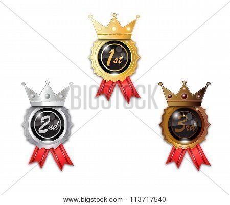 Gold Silver Bronze Winner Badge