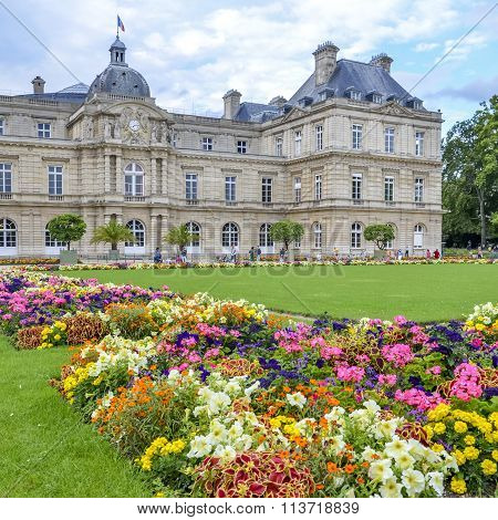 PARIS,FRANCE -August 12, 2014 - Summer day in the Luxemburg garden in Paris ,France on August 12 , 2014
