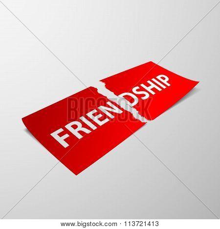 Friendship. Stock Illustration.