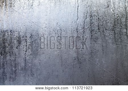Steamy Window With Water Drops