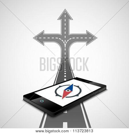 Compass. Stock Illustration.
