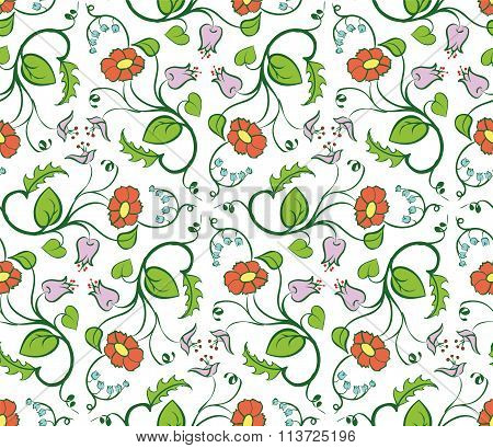 Floral Pattern. Stock Illustration.