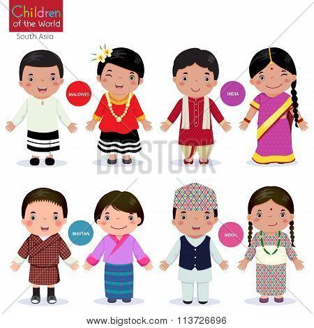 Children Of The World (maldives, India, Bhutan And Nepal)