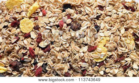 Musli And Seeds Texture