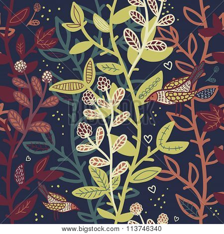 Abstract Seamless Pattern With Branches