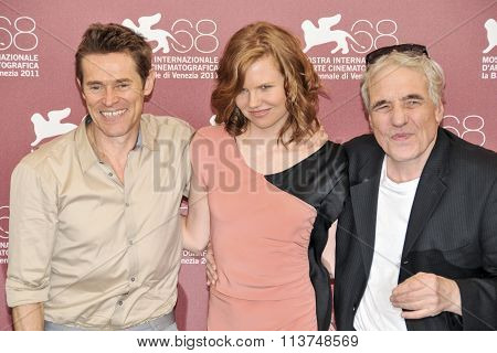 Actors Willem-Dafoe Shanyn Leigh and director Abel Ferrara