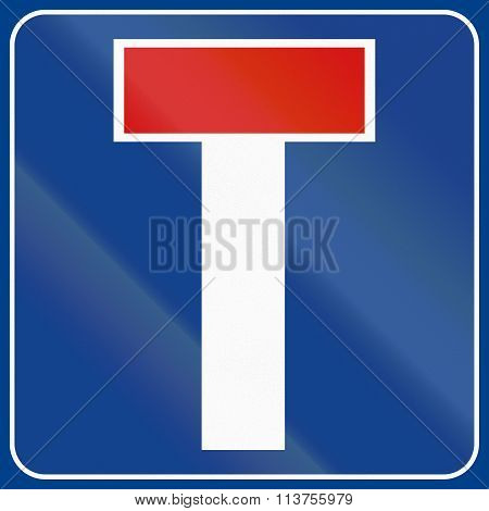 Road Sign Used In Italy - Dead End