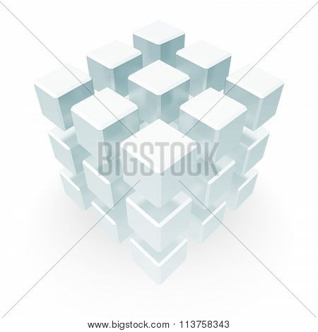Abstract Cube Block Concept