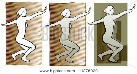 woman nudes background