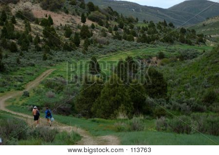People Walking Down The Long Trail