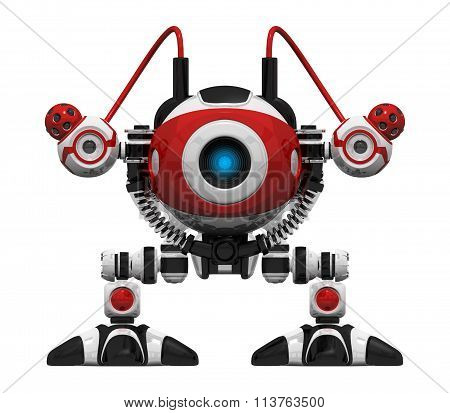 Scutter Webcrawler Robot Orthographic View Frontal