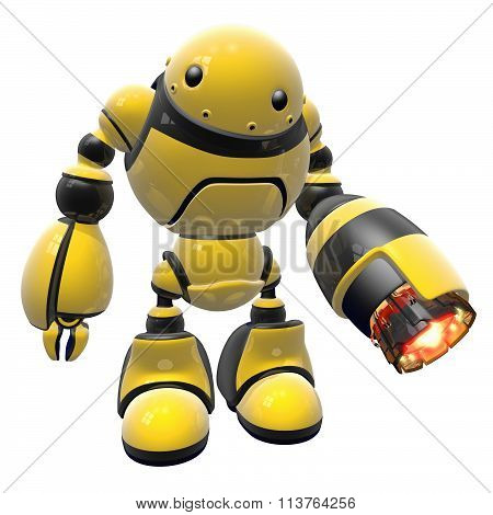 Large Industrial Worker Bot With Heat Gun