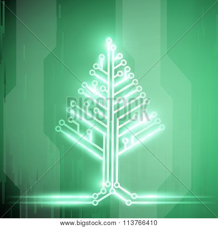 Christmas Tree. Stock Illustration.
