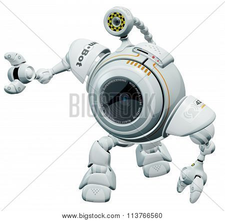Robot Web Cam Looking Up In Cute Manner