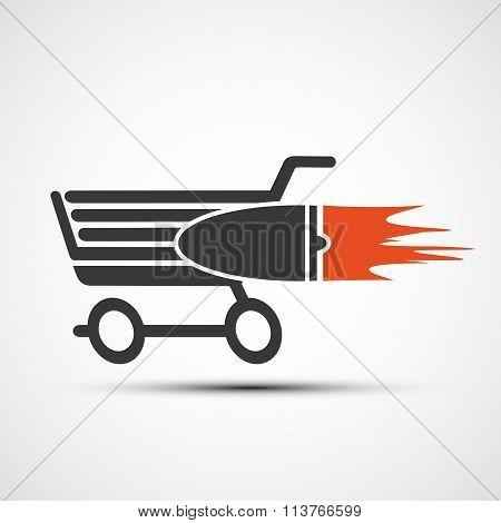Shopping Cart. Stock Illustration.