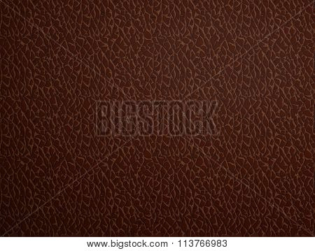 Brown Leather. Stock Illustration.