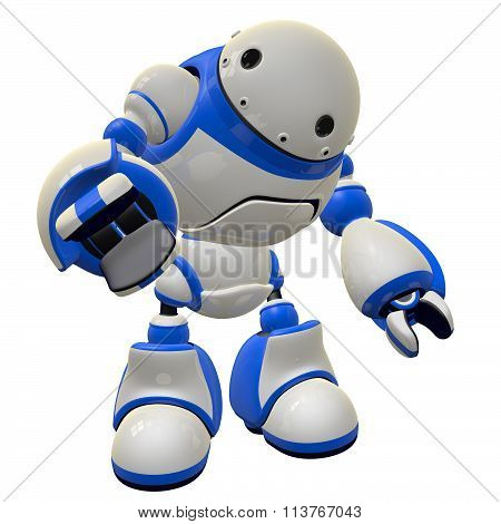 Software Security Bot Concept Pointing At Viewer