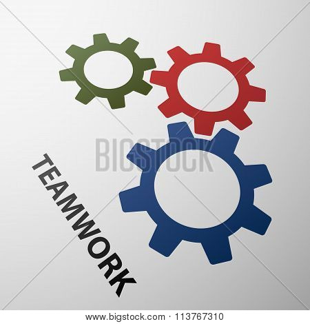 Teamwork. Stock Illustration.