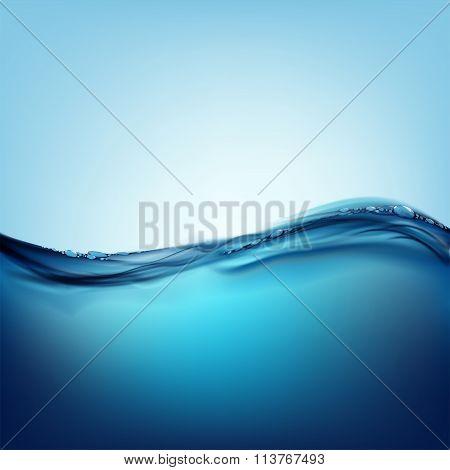 Water Surface. Stock Illustration.