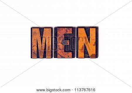 Men Concept Isolated Letterpress Type