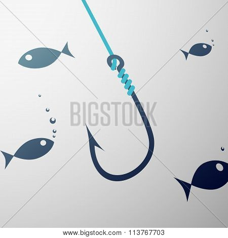 Fishhook. Stock Illustration.