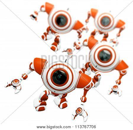 Webcam Robots Concept Depth of Field