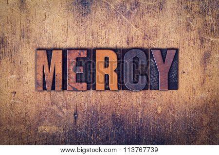 Mercy Concept Wooden Letterpress Type