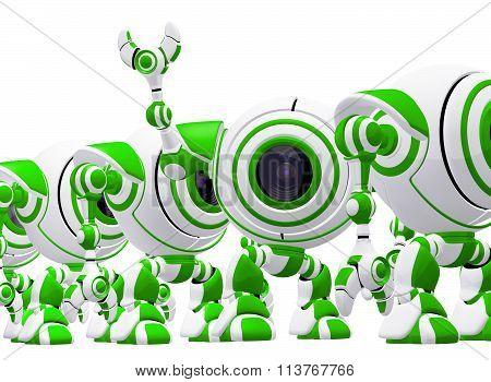 Assembly Line Robots Concept Webcams