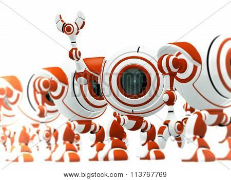 Small Red Robot Assembly Line