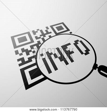 Qr Code Emblem. Stock Illustration.